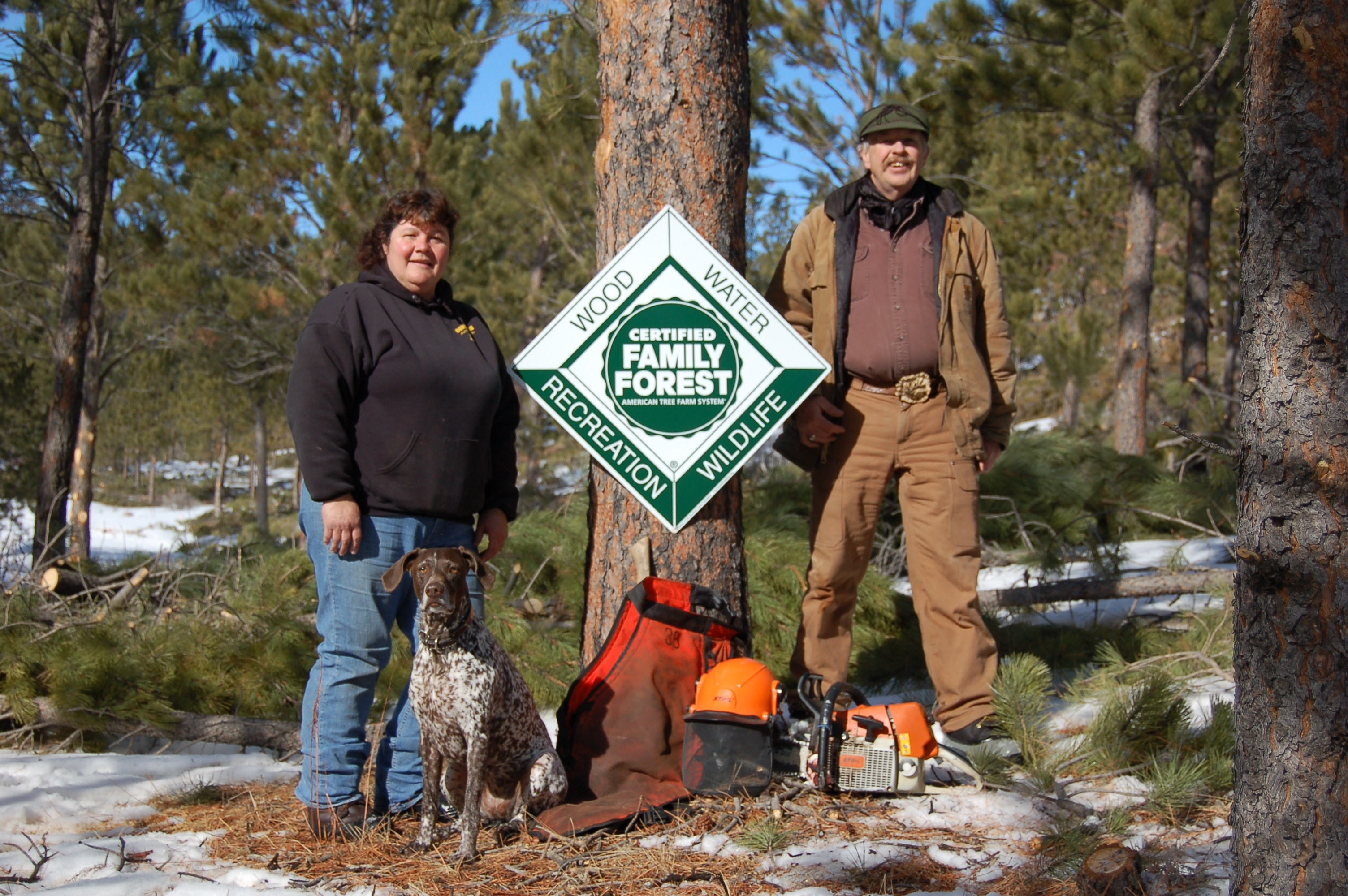 The Terry's Become Wyoming Tree Farmers of the Year